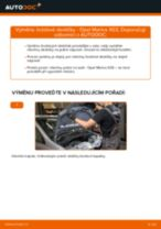 Jak vyměnit zadní brzdové destičky na Opel Meriva X03 – návod k výměně