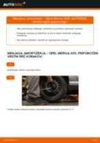 Kako zamenjati in prilagoditi Blažilnik OPEL MERIVA: vodnik pdf