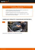 Kako zamenjati avtodel zavorne ploščice zadaj na avtu Opel Meriva X03 – vodnik menjave