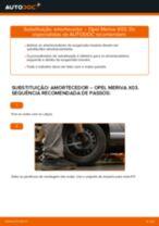 Como mudar amortecedores da parte traseira em Opel Meriva X03 - guia de substituição