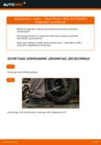 Kuidas vahetada Opel Meriva X03 taga-vedru – õpetus