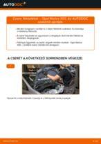 Hátsó fékbetétek-csere Opel Meriva X03 gépkocsin – Útmutató