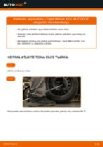 Kaip pakeisti Opel Meriva X03 spyruoklės: galas - keitimo instrukcija