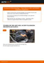 OPEL Bremsbelagsatz hinten + vorne selber austauschen - Online-Bedienungsanleitung PDF