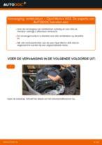 PDF handleiding voor vervanging: Remblokset OPEL Meriva A (X03) achter en vóór