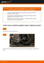 Comment changer : ressort de suspension arrière sur Opel Meriva X03 - Guide de remplacement