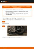 Byta fjädrar bak på Opel Meriva X03 – utbytesguide