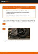 Slik bytter du fjærer bak på en Opel Meriva X03 – veiledning
