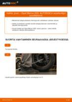 Kuinka vaihtaa jousi taakse Opel Meriva X03-autoon – vaihto-ohje
