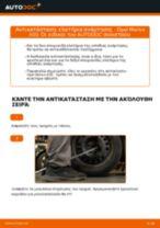 Πώς να αλλάξετε ελατήρια ανάρτησης πίσω σε Opel Meriva X03 - Οδηγίες αντικατάστασης