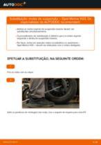 Como mudar molas de suspensão da parte traseira em Opel Meriva X03 - guia de substituição