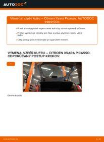 Ako vykonať výmenu: Vzpery Kufra na 2.0 HDi Citroen Xsara Picasso