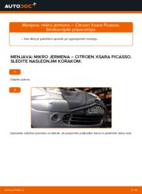 Kako izvesti menjavo: Rebrasti jermen na 2.0 HDi Citroen Xsara Picasso