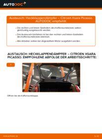 Wie der Wechsel durchführt wird: Heckklappendämpfer Citroen Xsara Picasso 2.0 HDi 1.6 HDi 1.8 16V tauschen