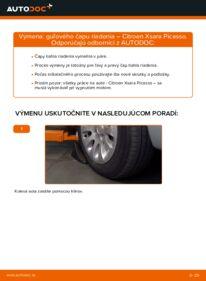 Ako vykonať výmenu: Hlava / čap spojovacej tyče riadenia na 2.0 HDi Citroen Xsara Picasso