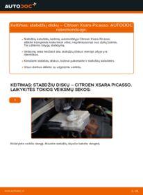Kaip atlikti keitimą: 2.0 HDi Citroen Xsara Picasso Stabdžių diskas