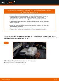 Wie der Wechsel durchführt wird: Bremsscheiben 2.0 HDi Citroen Xsara Picasso tauschen