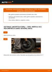 Kaip atlikti keitimą: 1.7 CDTI (E75) Opel Meriva x03 Amortizatorius