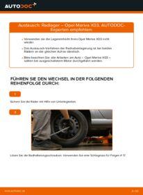 Wie der Wechsel durchführt wird: Radlager 1.7 CDTI (E75) Opel Meriva x03 tauschen