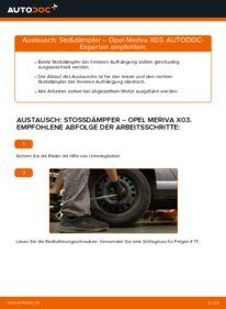 Wie der Wechsel durchführt wird: Stoßdämpfer 1.7 CDTI (E75) Opel Meriva A tauschen