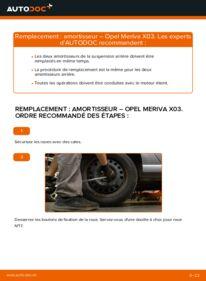 Comment effectuer un remplacement de Amortisseurs sur 1.7 CDTI (E75) Opel Meriva x03