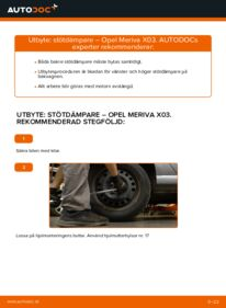 Så byter du Stötdämpare på 1.7 CDTI (E75) Opel Meriva x03