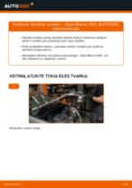 Kaip pakeisti Opel Meriva X03 liambda zondas - keitimo instrukcija