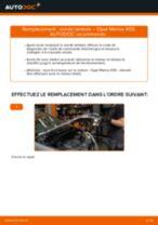 OPEL MERIVA tutoriel de réparation et de maintenance