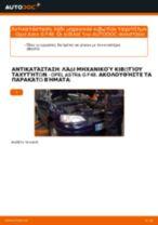 Πώς να αλλάξετε λάδι μηχανικού κιβωτίου ταχυτήτων σε Opel Astra G F48 - Οδηγίες αντικατάστασης