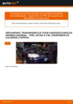 Hoe transmissieolie voor handgeschakelde versnellingsbak vervangen bij een Opel Astra G F48 – vervangingshandleiding