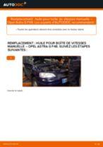 Comment changer : huile pour boîte de vitesses manuelle sur Opel Astra G F48 - Guide de remplacement