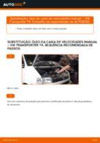 Mudar Óleo do diferencial: instrução pdf para VW TRANSPORTER