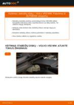 Instrukcijos PDF apie C70 priežiūrą