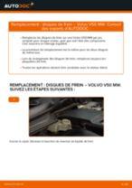 Comment changer : disques de frein avant sur Volvo V50 MW - Guide de remplacement
