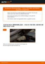 Wechseln von Bremsbacken für Handbremse VOLVO V50: PDF kostenlos