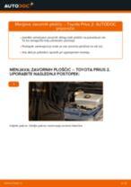 Menjava zadaj in spredaj Zavorne Ploščice TOYOTA PRIUS: spletni vodič