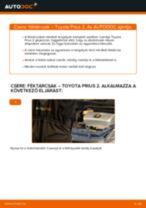 Elülső féktárcsák-csere Toyota Prius 2 gépkocsin – Útmutató