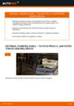 Montavimo Amortizatoriaus Apsauga TOYOTA PRIUS Hatchback (NHW20_) - žingsnis po žingsnio instrukcijos