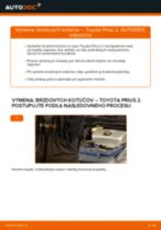 Kedy meniť Manżeta Riadenia TOYOTA PRIUS Hatchback (NHW20_): pdf príručka