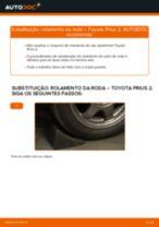 Manual DIY sobre como substituir o Jogo de rolamentos de roda no TOYOTA PRIUS Hatchback (NHW20_)