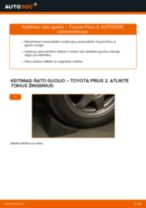 Automechanikų rekomendacijos TOYOTA Toyota Prius 2 1.5 Hybrid (NHW2_) Stabdžių apkaba keitimui