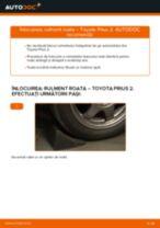 Schimbare Indicator de uzura placute frana TOYOTA PRIUS: manual de intretinere si reparatii