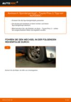 Schritt-für-Schritt-PDF-Tutorial zum Bremsbacken-Austausch beim TOYOTA PRIUS Hatchback (NHW20_)