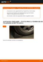 TOYOTA PRIUS Hatchback (NHW20_) Koppelstange wechseln vorne links: Anleitung pdf