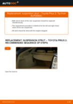 Step by step PDF-tutorial on Shock Absorber TOYOTA PRIUS Hatchback (NHW20_) replacement