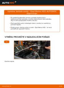 Jak provést výměnu: Lambda sonda na 1.7 CDTI (E75) Opel Meriva x03