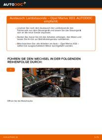 Wie der Wechsel durchführt wird: Lambdasonde 1.7 CDTI (E75) Opel Meriva A tauschen