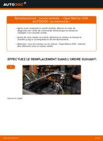 Comment effectuer un remplacement de Sonde Lambda sur 1.7 CDTI (E75) Opel Meriva A