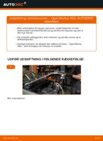 Hvordan man udfører udskiftning af: Lambdasonde på 1.7 CDTI (E75) Opel Meriva x03