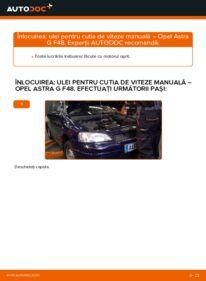 Cum să efectuați înlocuirea: Ulei de transmisie la 1.6 16V (F08, F48) Opel Astra g f48